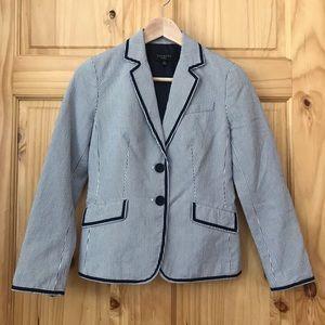 Talbots petites pinstriped cotton blazer size 2P